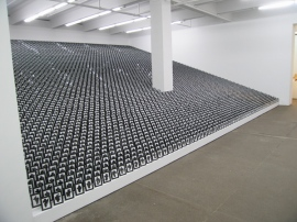 "Allan McCollum, ""The Shapes Project"" (2005/6), as installed at the Friedrich Petzel Gallery in New York (2006)"