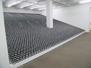 """Allan McCollum, """"The Shapes Project"""" (2005/6), as installed at the Friedrich Petzel Gallery in New York (2006)"""